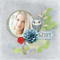 """Awesome"" Digital Scrapbook Layout by Darryl Beers"