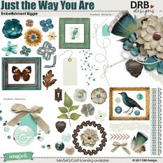 Just the Way You Are Embellishment Biggie by DRB Design | @ ScrapGirls.com