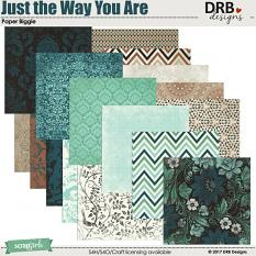 Just the Way You Are Paper Biggie by DRB Design | @ ScrapGirls.com