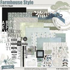 Farmhouse Style Collection Biggie digital scrapbooking kit by Melissa Renfro