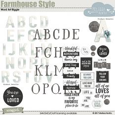Farmhouse Style Alpha and Word Art Collection