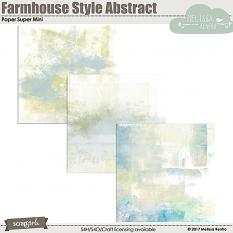 Farmhouse Style Abstract Paper Super Mini digital scrapbooking papers