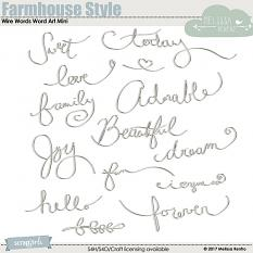 Farmhouse Style Wire Words Word Art Mini