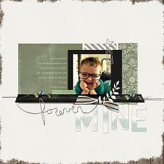 Forever Mine digital scrapbook layout by Melissa Renfro