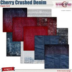 Cherry Crushed Denim Papers