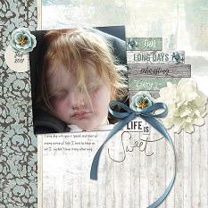 Life is Sweet layout by Melissa Renfro