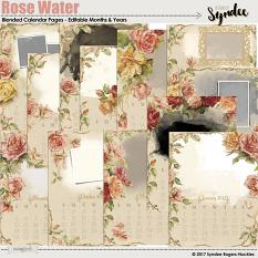 Rose Water Printable Calendar