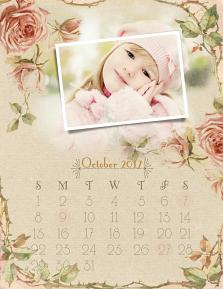 Rose Water Printable Calendar Page