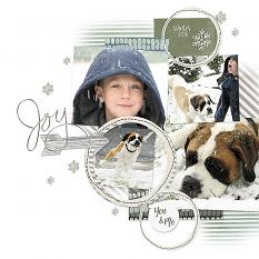 Joy layout by Melissa Renfro