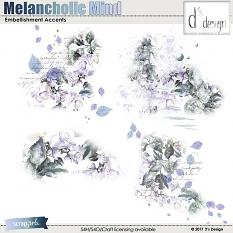 melancholic mind embellishment accents by d's design