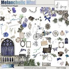 melancholic mind embellishment biggie by d's design