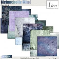 melancholic mind paper biggie by d's design