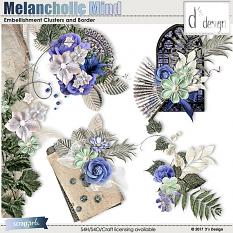 melancholic mind embellishments by d's design