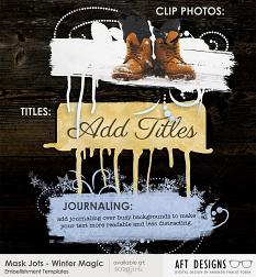 Mask Jots - Winter Magic Embellishment Templates by AFT designs | aftdesigns.net