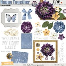 Happy Together Embellishment by DRB Designs | @ ScrapGirls.com