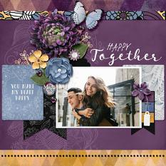 """Happy Together"" digital scrapbook layout by Darryl Beers"