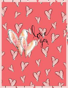 Valentine's Day Card using XOXO Digital Papers