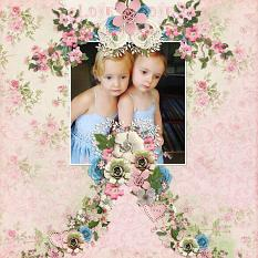 """Loving twins"" Layout By Andrea Hutton"