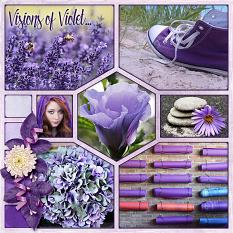 Visions of Violet Layout by Laura Louie