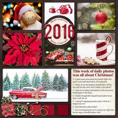 Christmas 2016 Layout by Laura Louie