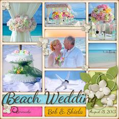 Beach Wedding Layout by Laura Louie