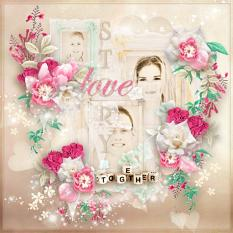 layout using tender valentine value pack by d's design
