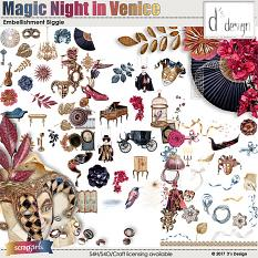 magic night in venice embellishment biggie by d's design