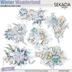 In A Winter Wonderland Embellishment Mini Cluster