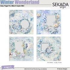 Easy Page Pro Album: In A Winter Wonderland Super Mini