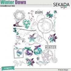 Winter Down Embellishment Mini