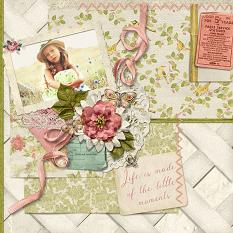 """""""Little Moments""""digital scrapbooking layout by Judy Webster uses:"""