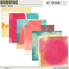 Budding Mixed Papers by AFTdesigns #scrapbook #spring