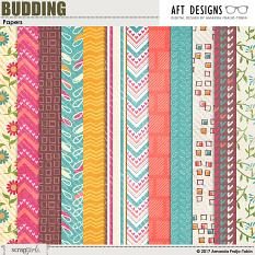 Budding Papers | AFTdesigns #printable #scrapbook #spring