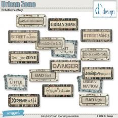urban zone tags by d's design