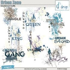 urban zone graff' by d's design