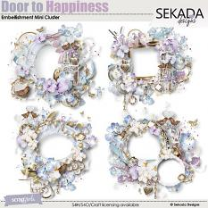 Door To Happiness Embellishment Mini Cluster
