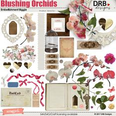 Blushing Orchids Embellishment Biggie by DRB Designs | ScrapGirls.com