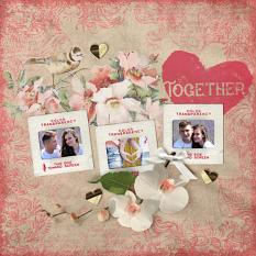 """Together"" Digital Scrapbook Layout by Darryl Beers"