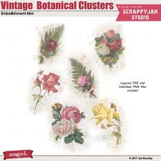 Vintage Botanical Clusters Embellishment Mini by Jan Ransley