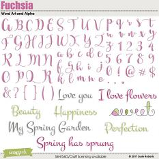 Fuchsia Word Art and Alpha Prev
