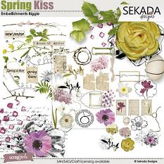 Spring Kiss Embellishment Biggie