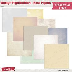 Vintage Page Builders - Base Papers by Jan Ransley