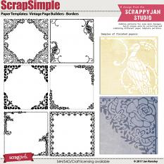 ScrapSimple Paper Templates: Vintage Page Builders - Borders by Jan Ransley