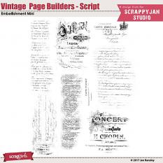 Vintage Page Builders - Script by Jan Ransley