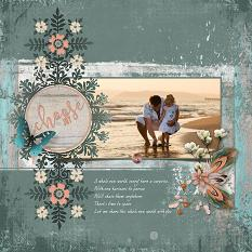 Digital scrapbooking layout by Judy Webster