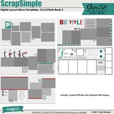 ScrapSimple Digital Layout Album Templates: 12x12 Photo Book 5