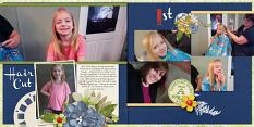 Layout using ScrapSimple Digital Layout Album Templates: 12x12 Photo Book 5