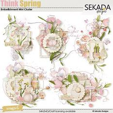Think Spring Embellishment Mini Cluster