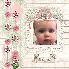 """So Kissable"" layout by Andrea Hutton"