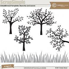 ScrapSimple Embellishment Templates: Branches and Leaves